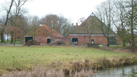 Decoratieve afbeelding van Enne Jans Heerd in Maarhuizen van de achterzijde gefotografeerd