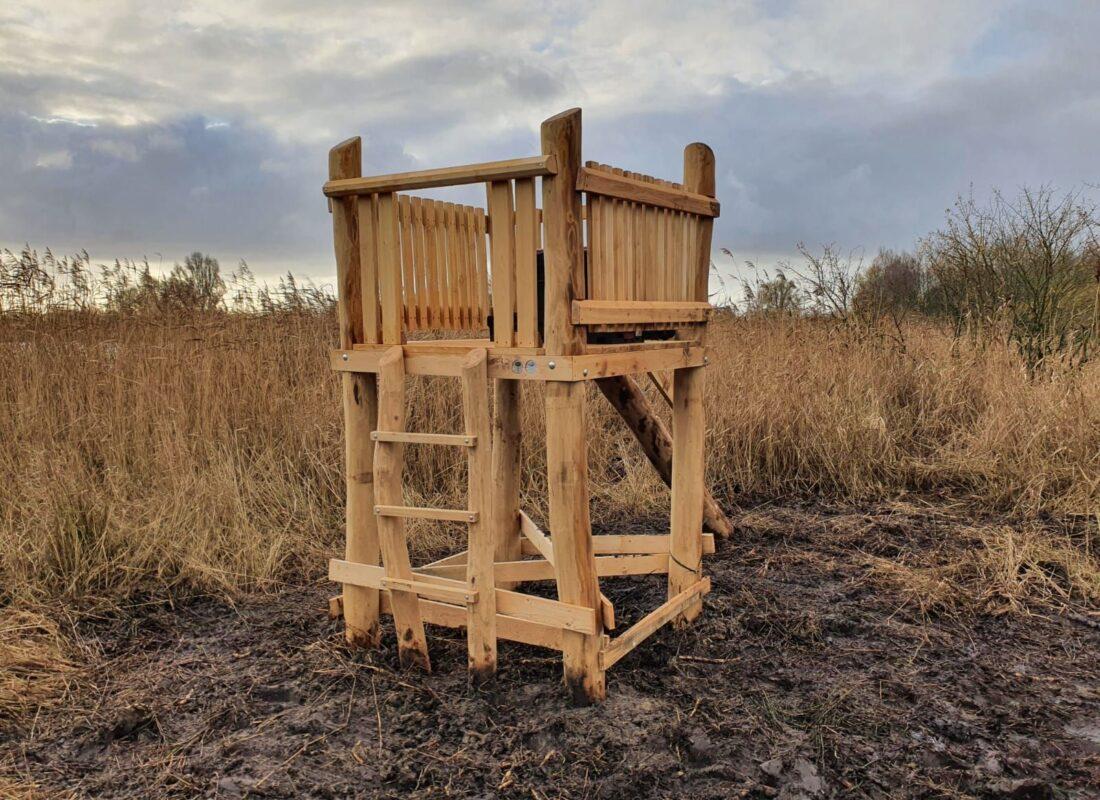 Nieuw klimtoestel voor kinderen bij het Foxholstermeer