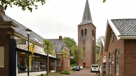 Sfeerafbeelding van de kerk in Warffum.