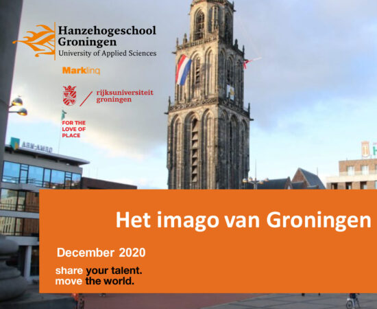 Voorkant van het pdf-document van de Imagomonitor 2020 met daarop de Martinitoren en de titel van het document