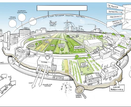 Schets van het project Fascinating waarin circulaire landbouw is verbeeld
