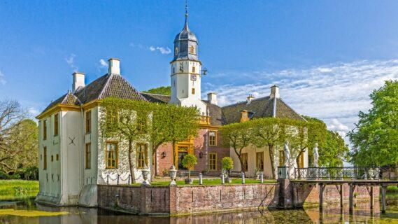 Decoratieve afbeelding van de Fraeylemaborg in gemeente Midden-Groningen