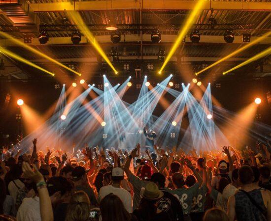 Decoratieve afbeelding van een concert