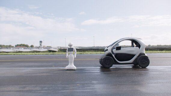 Afbeelding van een autonome auto
